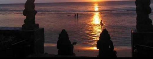Sunset at one of the nice Lombok beaches